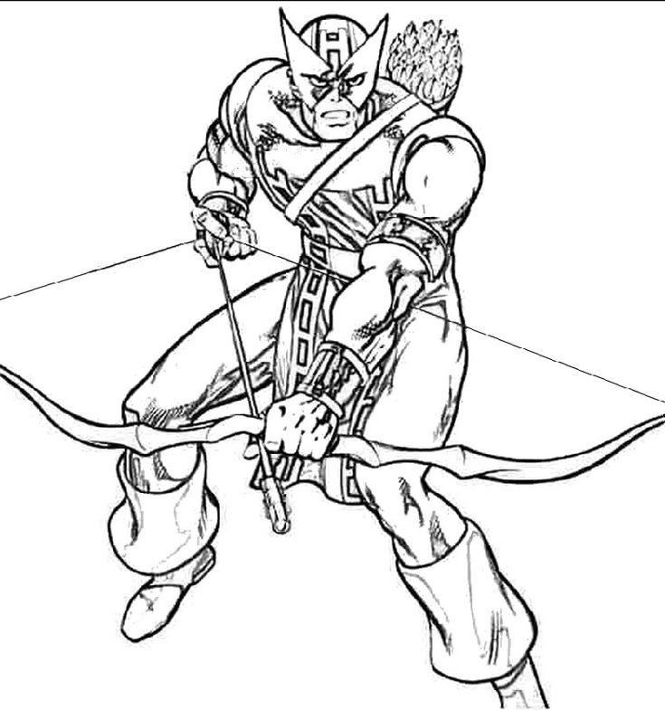 All Hawkeye Coloring Pages