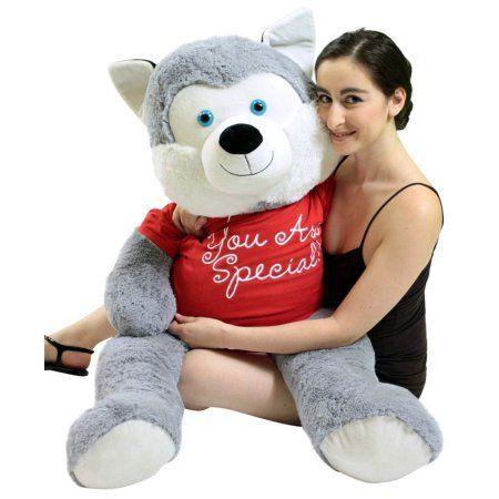 Free Shipping Buy 5 Foot Giant Stuffed Husky 60 Inch Soft Big Plush