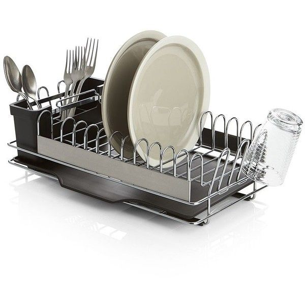 Cuisinart Dish Rack Gorgeous Crate & Barrel Compact Dish Rack Featuring Polyvore Home Home Inspiration