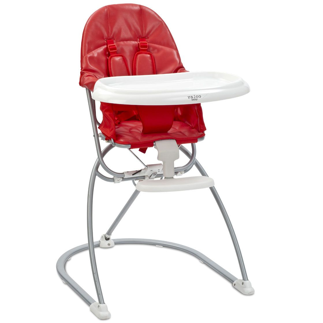 Valco Astro Compact Leatherette High Chair   Cherry