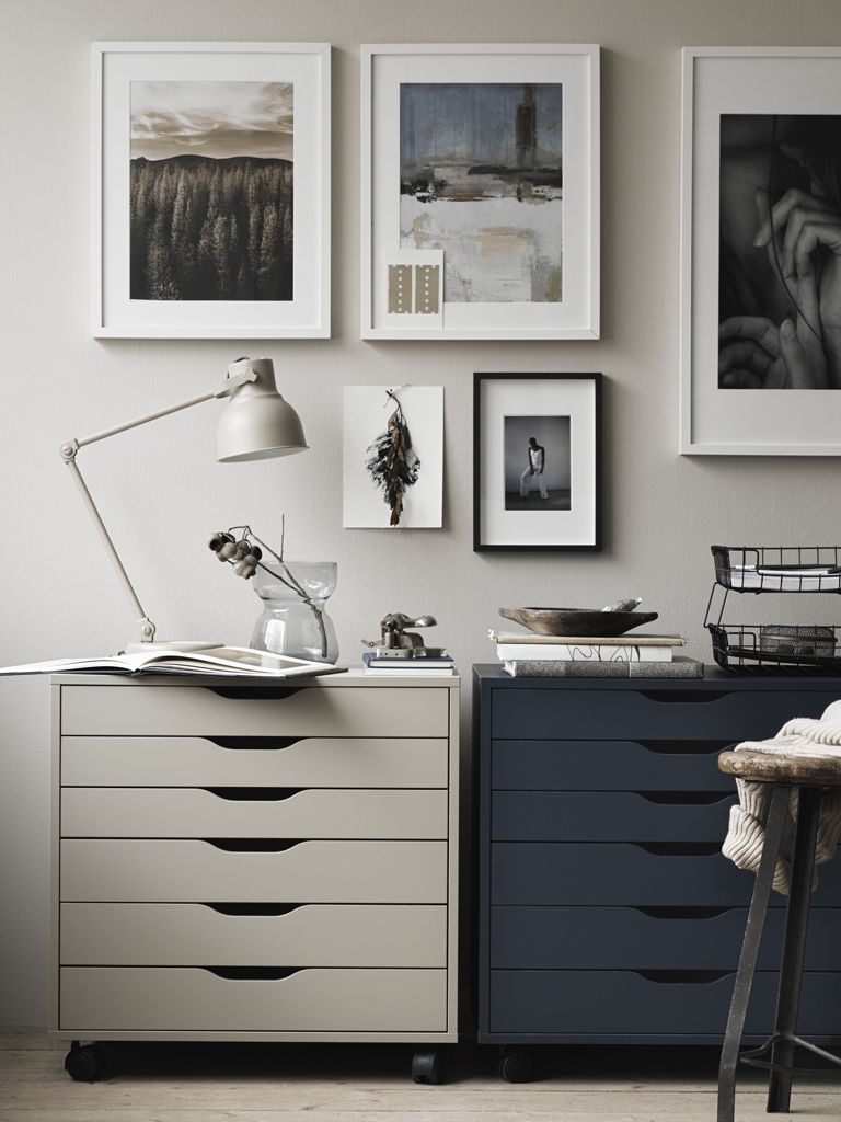 20 Inspirational Home Office Decor Ideas For 2019: The Harmonious Combination Of Carefully Chosen Pictures And Furniture Creates Harmony #IKEAch