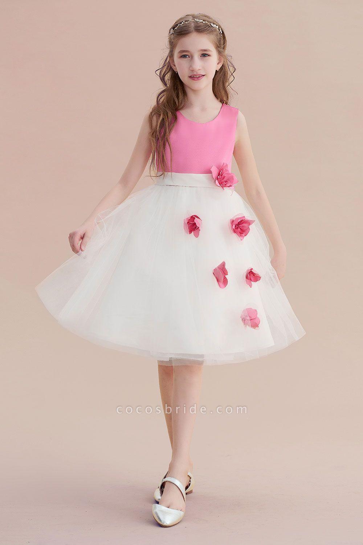 Affordable tulle aline flower girl dress flower girl