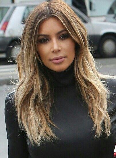 Kim Kardashian Light Brown Hair Color