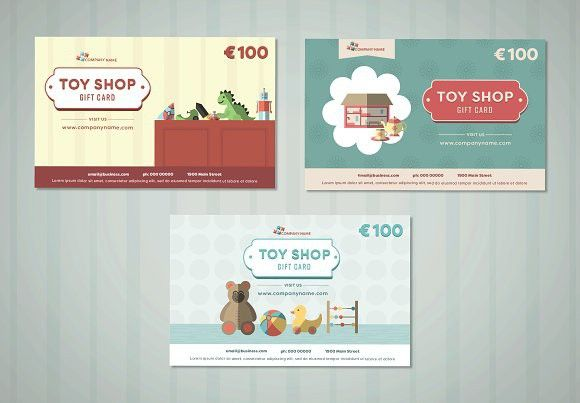 Toy Store Gift Card Card Design Templates Gift Card Template Store Gift Cards Gift Card