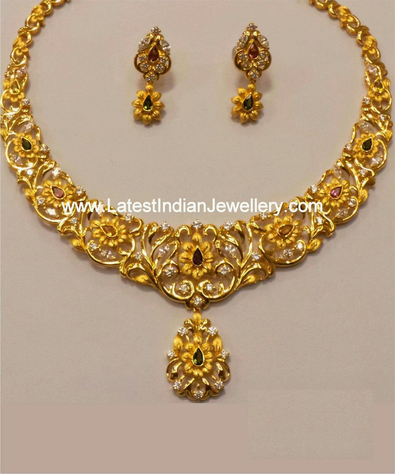Pin by shazia zubair on Gold Necklace Designs | Pinterest ...
