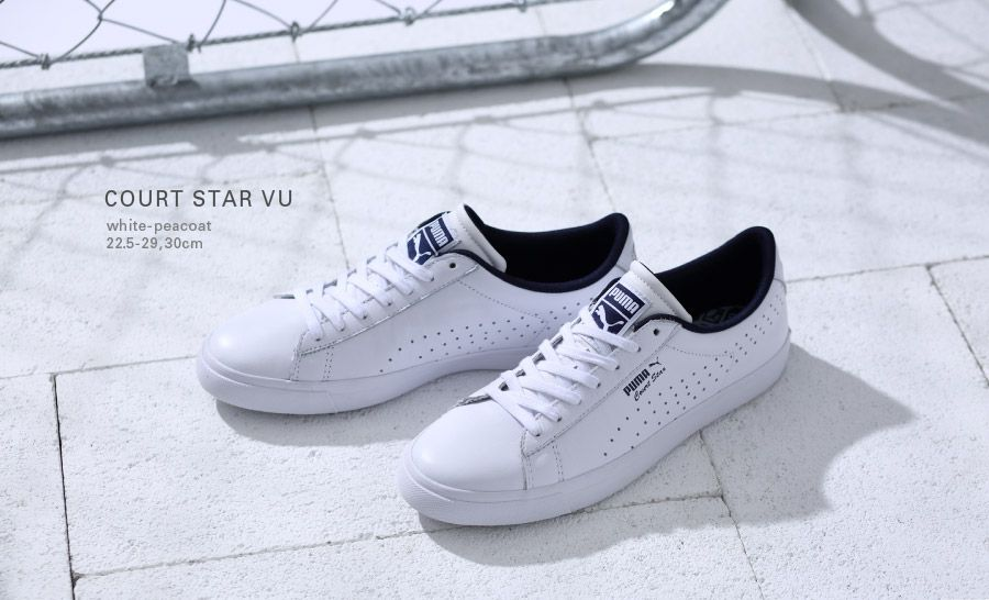Puma Court Star: White/Blue