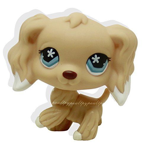 Littlest Pet Shop LPS Cocker Spaniel Dog #748 Toy With Accessories Rare