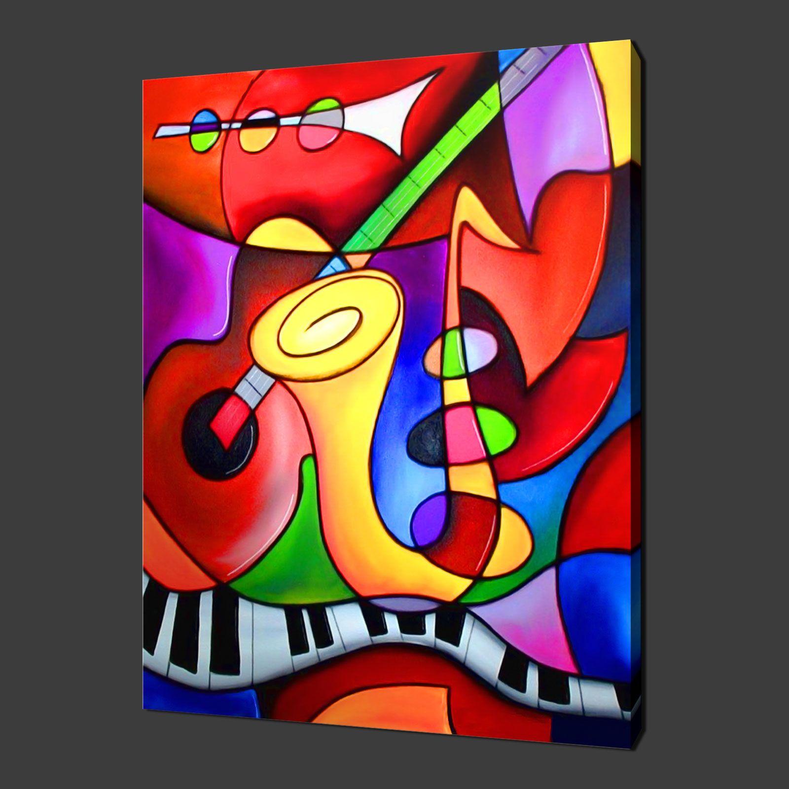 Abstract Painting Premium Canvas Print Wall Art Modern Design Free Uk P P Soyut Yagliboya Soyut Tuval Mozaic Sanati