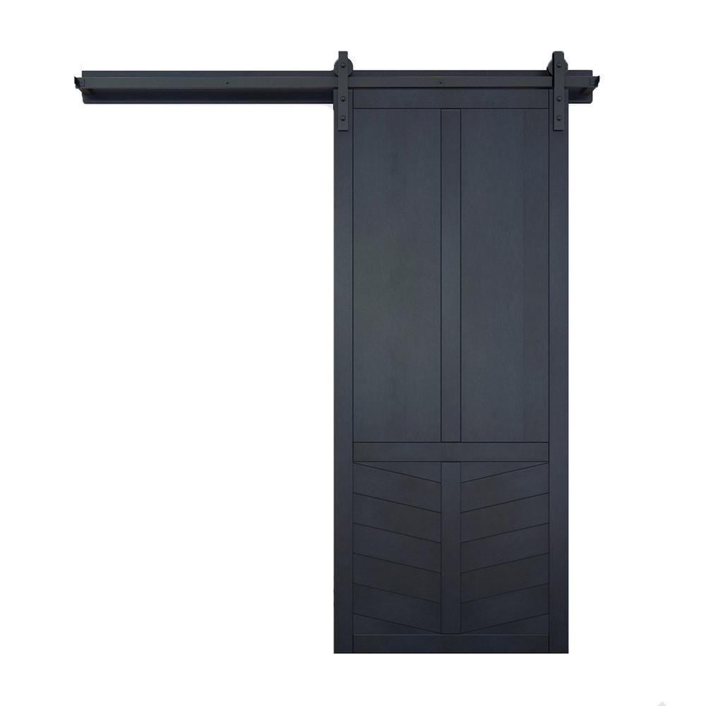 Verycustom 36 In X 84 In The Robinhood Admiral Wood Sliding Barn Door With Hardware Kit Rwrh36adb1 In 2020 Wood Barn Door Sliding Door Hardware Barn Style Sliding Doors