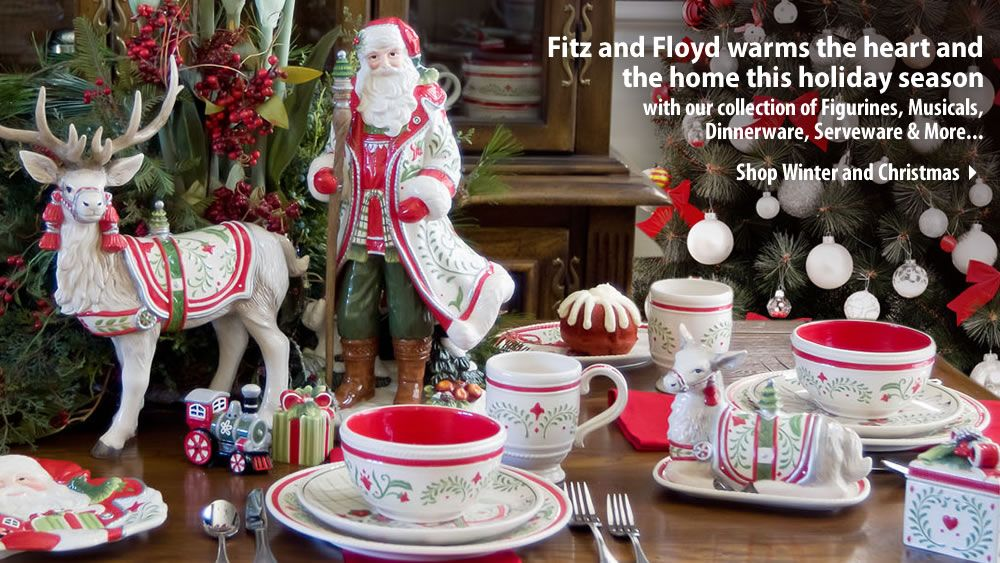 Conjure romantic memories of an alpine winter wonderland this season with Fitz and Floyd's Winter White Holiday collection