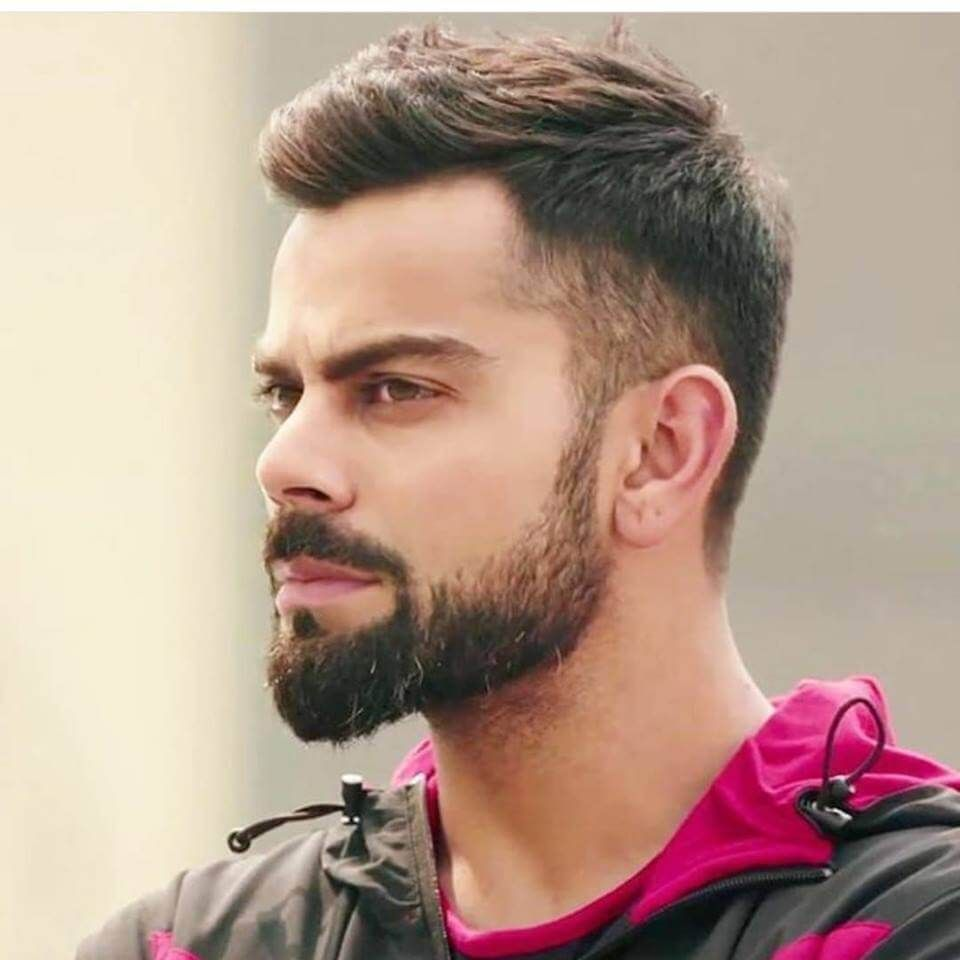 virat kohli hairstyle | short hair with beard | virat kohli