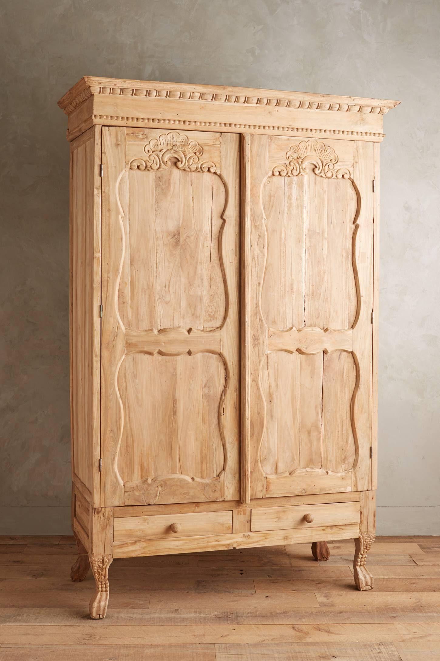 Handcarved toren armoire anthropologie furniture pinterest