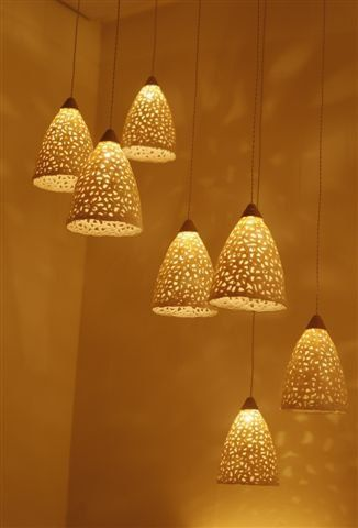 20% OFF Pendant light. Ceramic lighting fixture. Hanging