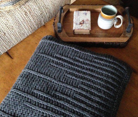 Photo of knitting pattern, knit blanket pattern, knit pattern, blanket pattern, knit throw, City Life Blanket, instant download pdf DIY instructions