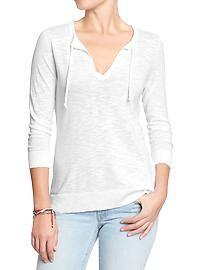 Women's Split-Neck Sweaters