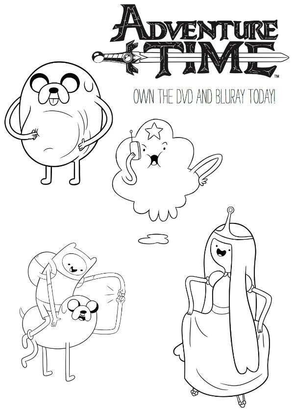 Free Printable Adventure Time Coloring Page Printable Coloring