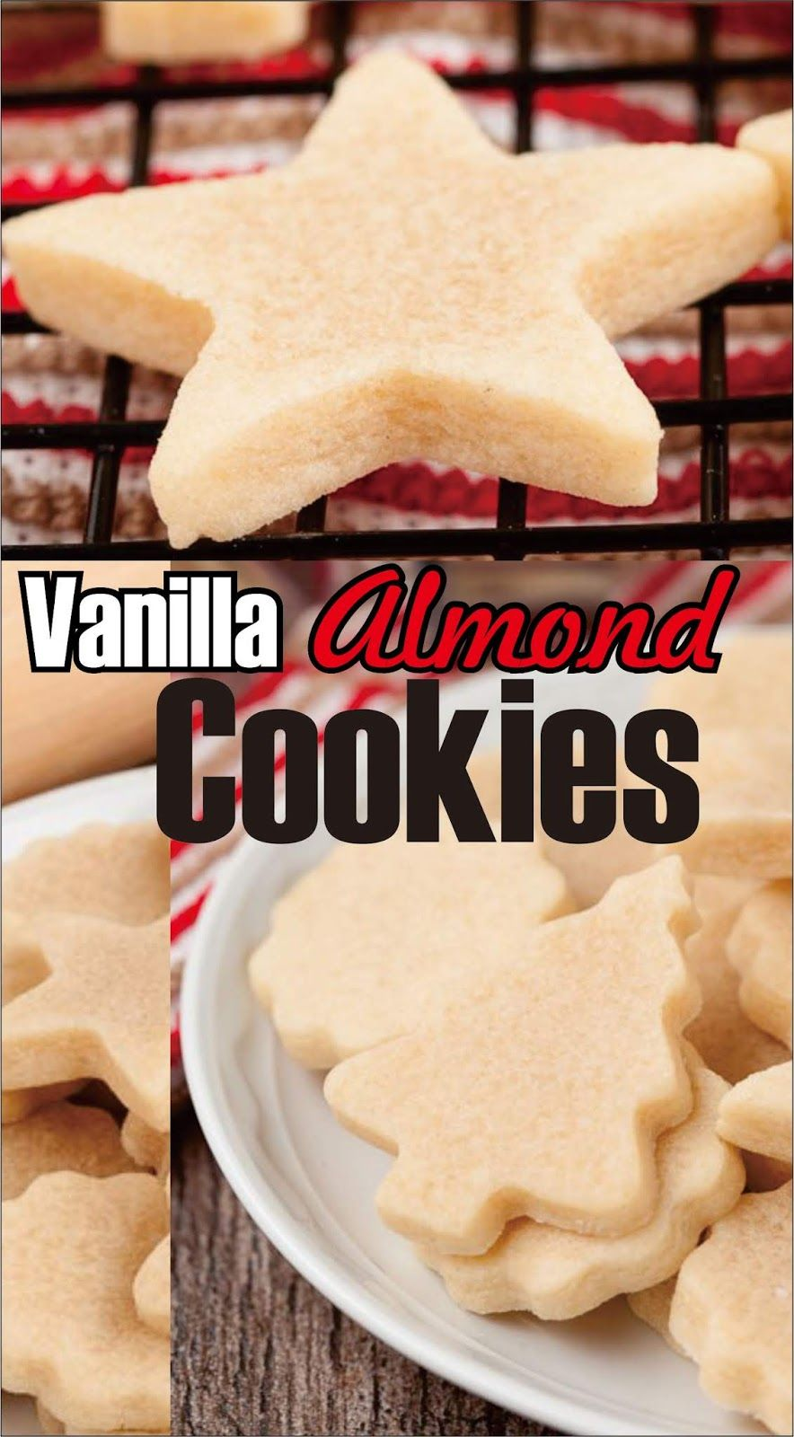 Vanilla Almond Cookies Christmas Cookies Dessert Easy Kraft