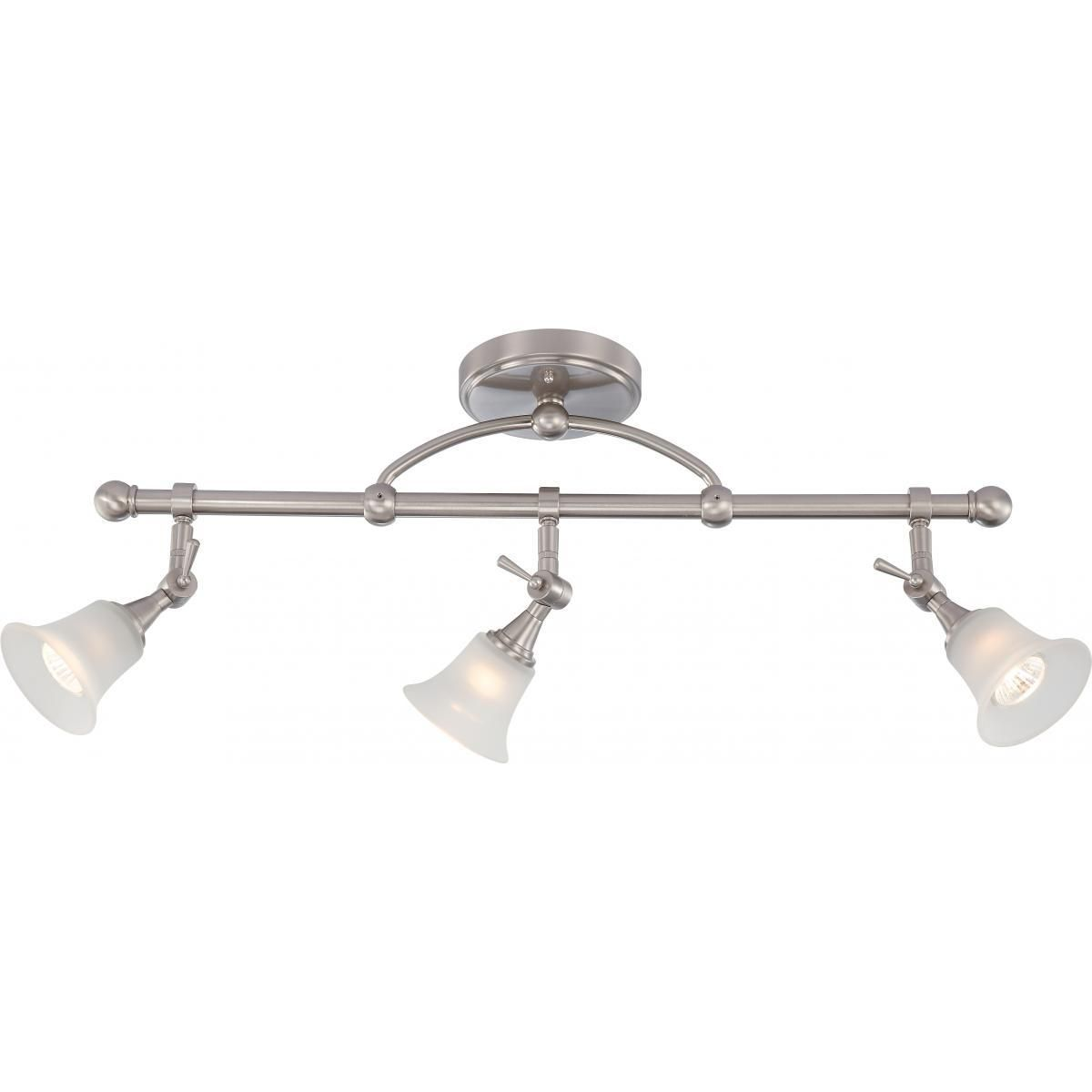 Surrey 3 Light Fixed Track Bar With Frosted Glass 3 50w Halogen