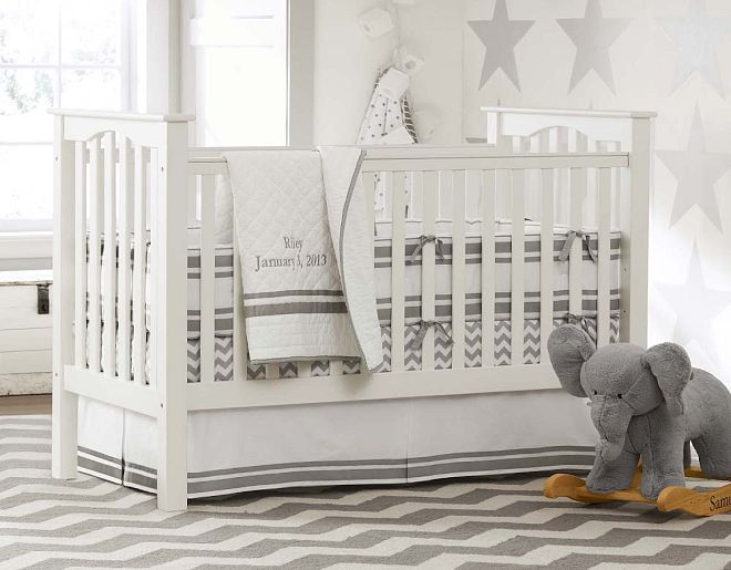 I love the Pottery Barn Kids Harper Gray Nursery on ...