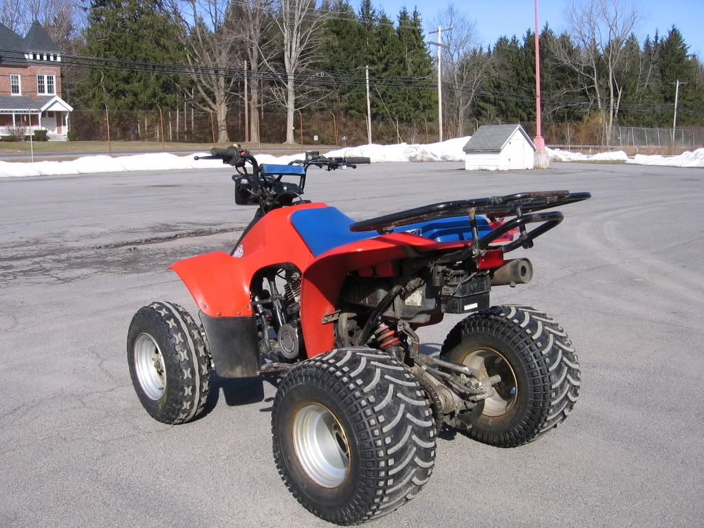 1987 Suzuki 230 Quadsport With Spider Track Tires On It This Thing Was A Lot Of Fun To Drive Drove It In The Winter Too We Us Go Kart Mini Bike Mustang Cars