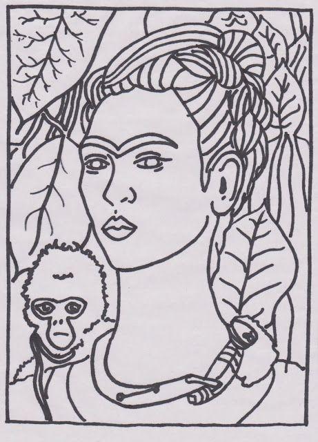 frida2+001+(2).jpg (461×640)   Frida   Pinterest   Ausmalbilder ...