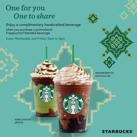 Starbucks Ramadan Treat in Malaysia Food graphic design