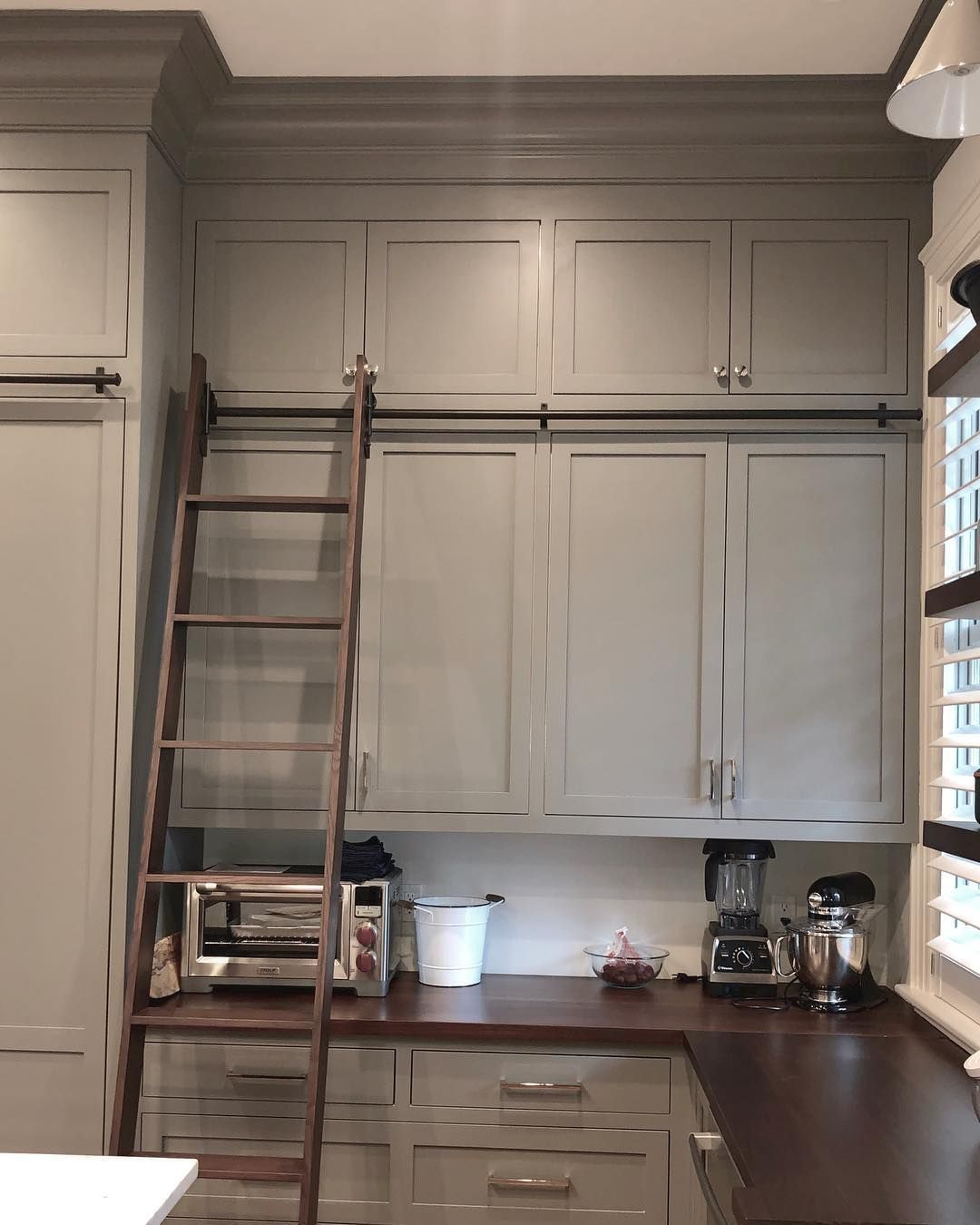 Awd Of Savannah On Instagram Feeling Short We Ve Got A Ladder For That Customcabinets Savannahga Libraryl With Images Custom Cabinets Library Ladder Savannah Chat