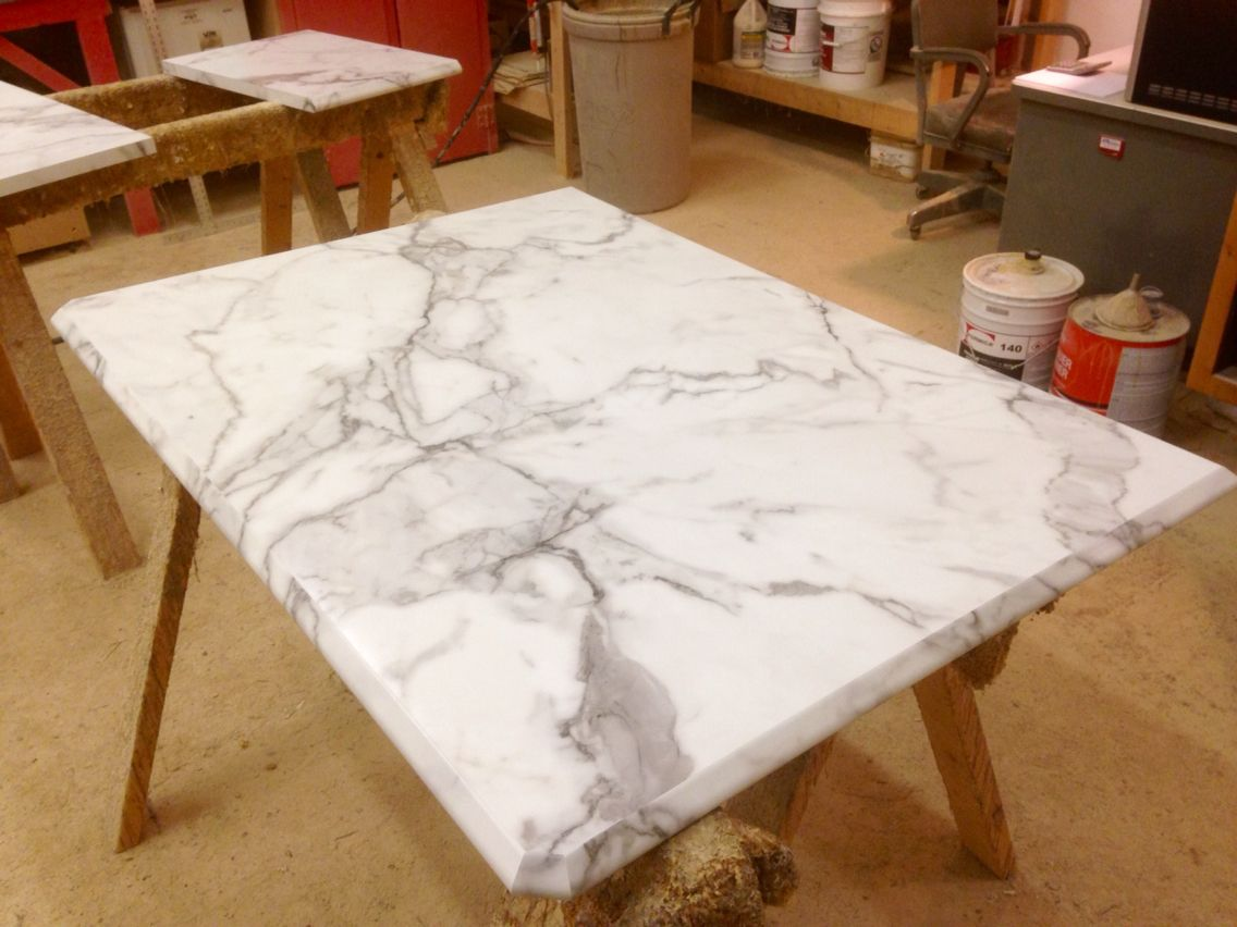 Calcutta Marble Laminate Countertop All Custom Laminate Ogee Ideal Edge Island In Formica 39s