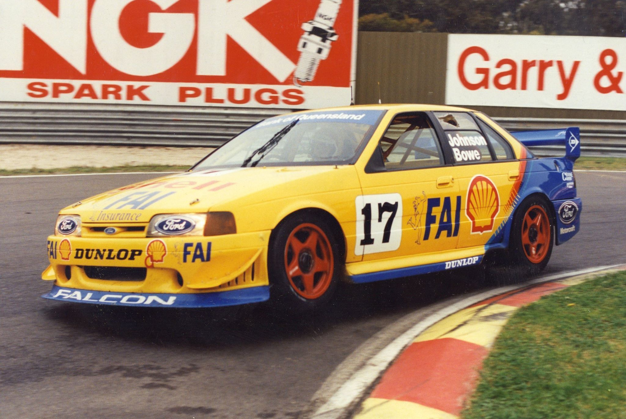 Johnson and Bowe in the E Series Ford Falcon