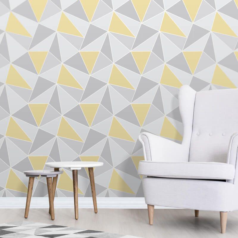 Pin By Iuliia Boroday On Dream Home Yellow Grey Wallpaper Grey