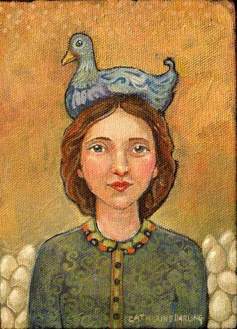 EBSQ AOTD: Blue Cluck Hat by Catherine Darling Hostetter