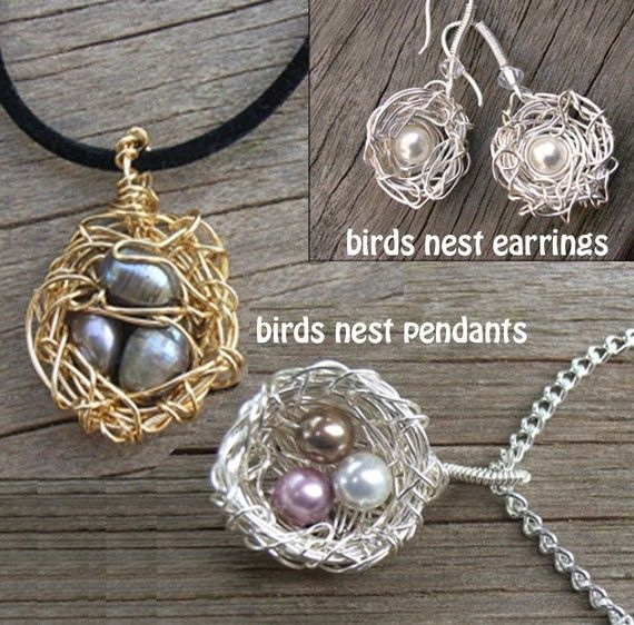 Instant download tutorial birds nest pendant and earrings set instant download tutorial birds nest pendant and earrings set jewelry tutorial that you can make easily on etsy 400 crafts pinterest nest aloadofball Choice Image