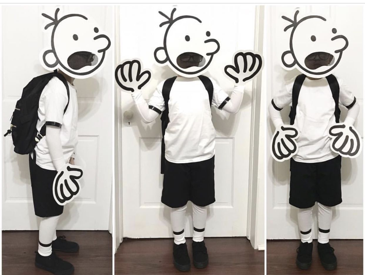 Book character day! Diary of a wimpy kid costume ✌️ #déguisementsdhalloweenfaitsmain