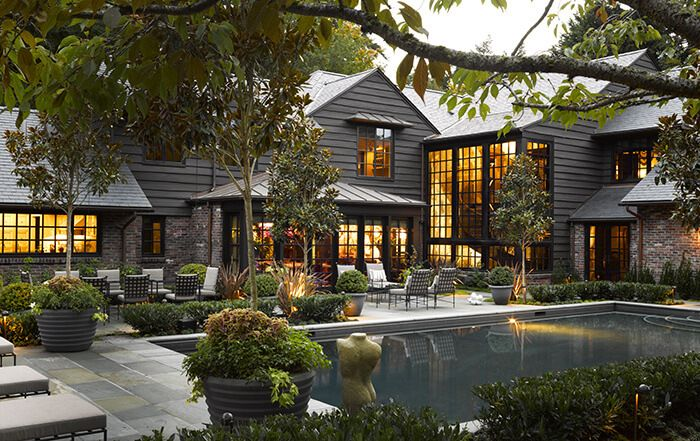 Architectural Digest Dark Exterior #dreamhouse