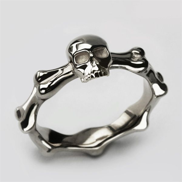 Stephen Einhorn Small Skull And Bones Ring