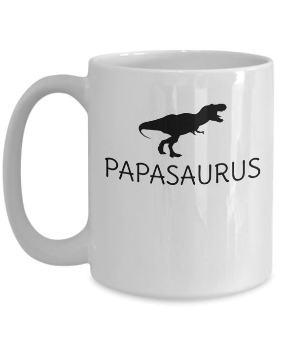 Papasaurus Papa Coffee Mug Gift - Gift For Grandfather - Grandpa Birthday Gift - Happy Birthday Grandpa Gift - Christmas Gift For Grandpa