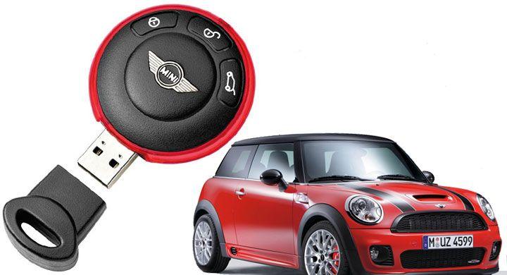 Mini Cooper Incognito Flash Drive Hides On Your Keychain Usb Drive Flash Drive Usb Keys