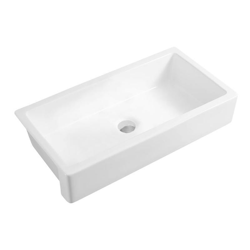 Giving Tree 30'' Ceramic Kitchen Sink White Single Bowl