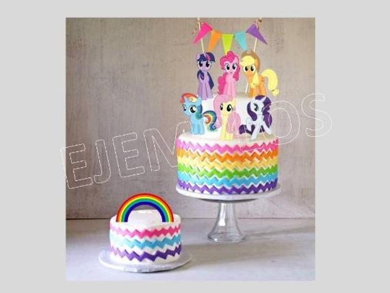 12 X My Little Pony Style Cake Picks,Cupcake Toppers Decorations Birthday Bag