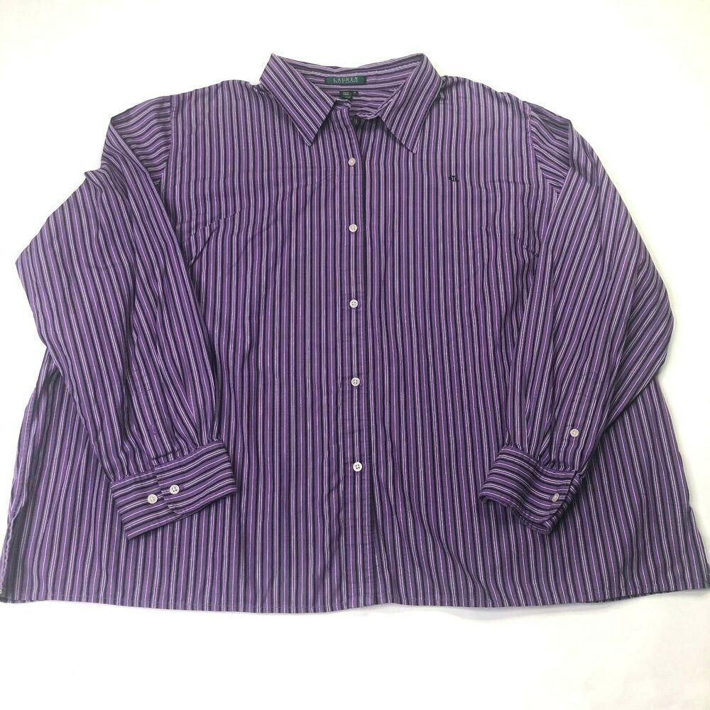 Mens Ralph Lauren Long Sleeve Button Down Dress Shirt Sz 3x Purple Black Plus Ebay Ralph Lauren Long Sleeve Shirt Dress Button Down Dress [ 1000 x 1000 Pixel ]
