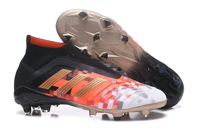 Chaussures De Foot Adidas Enfant Predator Telstar 18 FG Noir ...
