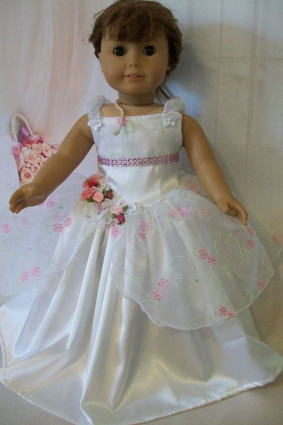 American Girl Doll Clothes Couture OOAK Satin and by MyKaraBella