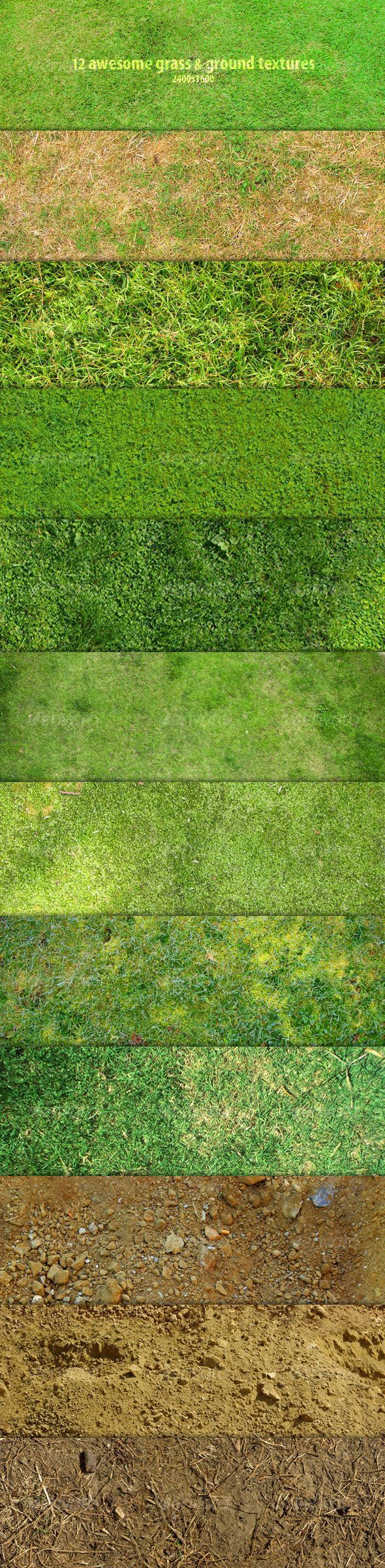 12 Awesome grass & ground textures - GraphicRiver Item for Sale
