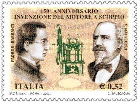 """Il #motore """"a scoppio"""", fu brevettato nel 1853 da Eugenio Barsanti e Felice Matteucci"""