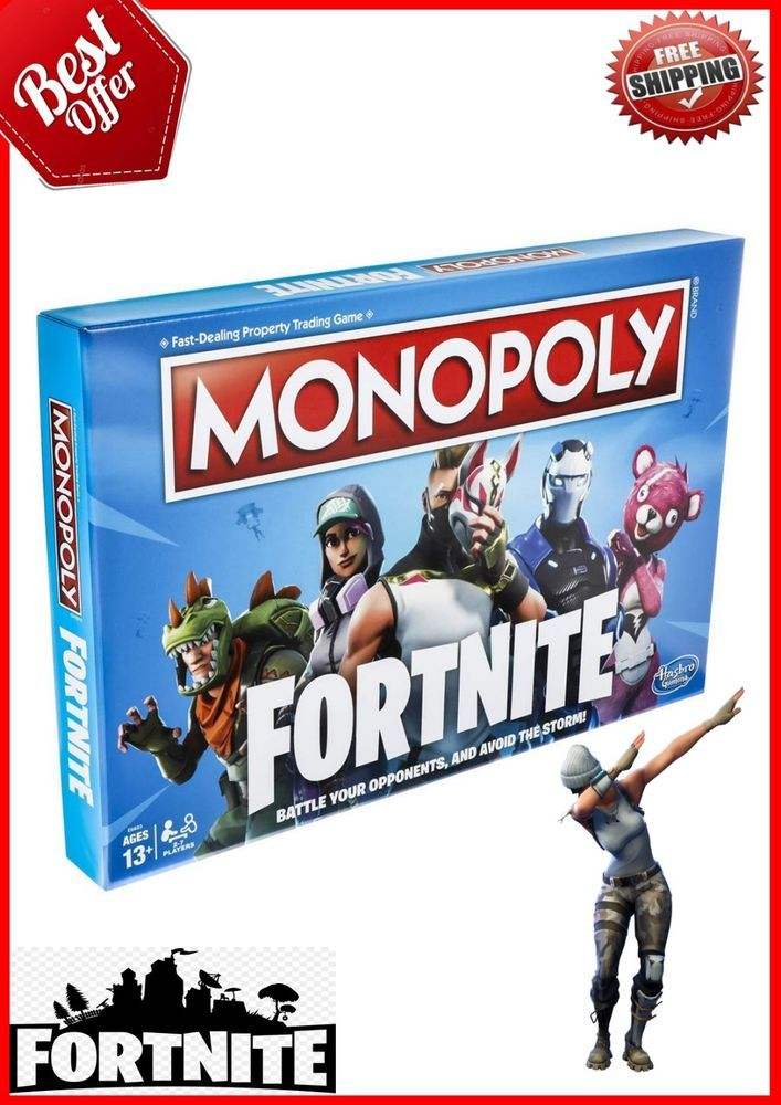 Monopoly Fortnite Edition Board Game Kids Fun Family Party Play