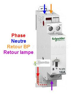 Montage Cablage Branchement D Un Telerupteur Et Boutons Poussoirs Comment Bra Contacteur Electrique Installation Electrique Maison Schema Electrique Maison