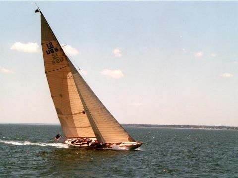 Onawa during the IYRS Classic Yacht Cruise in 2002