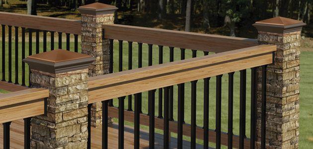 StoneRailing_630x300 Maison Pinterest Patios, Decking and Deck - fabriquer escalier exterieur bois