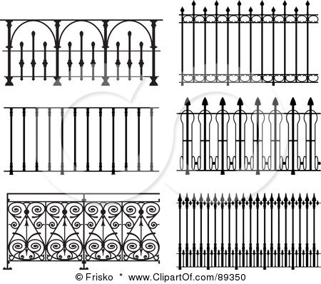 Image Detail For Clipart Illustration Of Ornate Wrought Iron