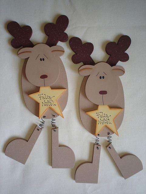 Renos de madera navidad madera navidad manualidades for Manualidades renos navidenos
